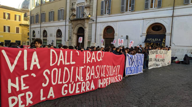 studenti in piazza 15-01-2020