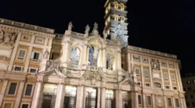 illuminazione basilica santa maria maggiore