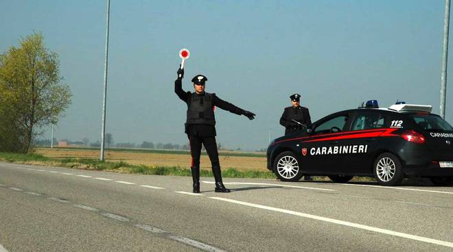Posto di blocco Carabinieri