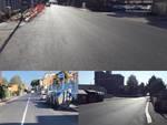 Lavori stradali a Via Tor Sapienza