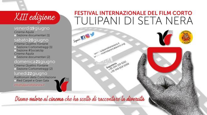 """Torna il Festival \""""Tulipani di Seta Nera\"""": la XIII edizione a Roma dal 19 al 22 giugno 2020"""