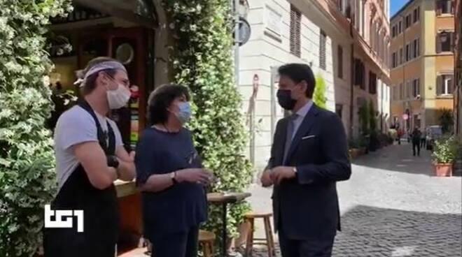 giuseppe conte incontra esercenti