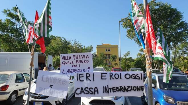 protesta villa fulvia