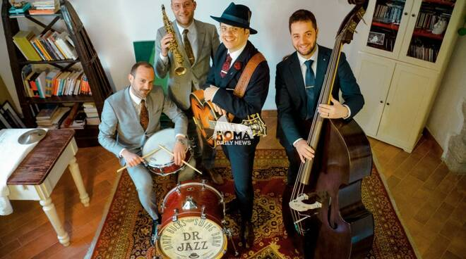 Dr. Jazz & Dirty Bucks Swing Band in concerto a Village Celimontana