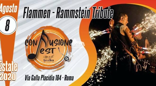 Flammen Rammstein tribute band in concerto al Confusione Fest