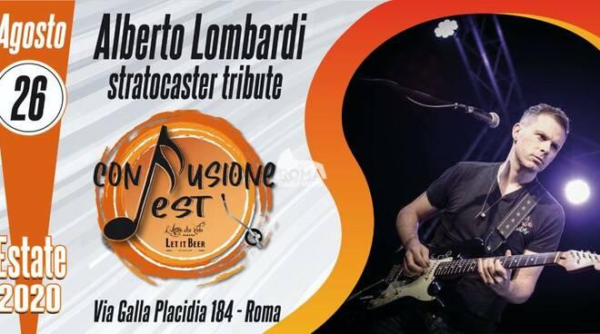 Alberto Lombardi Stratocaster Tribute in concerto al Confusione Fest
