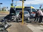 incidente ambulanza auto centocelle