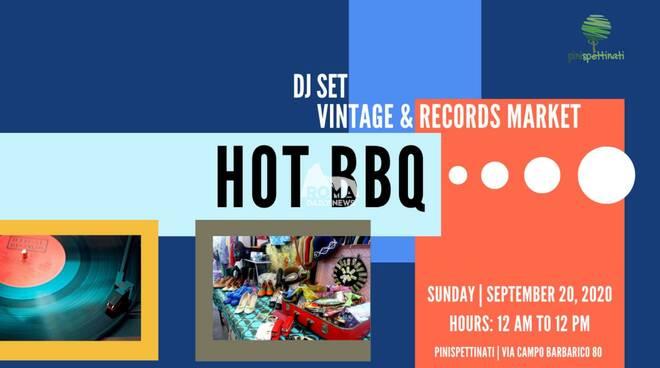 HOT BBQ - DJ SET Vintage e Records Market presso l\'Associazione Culturale Pinispettinati