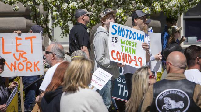manifestazione anti covid