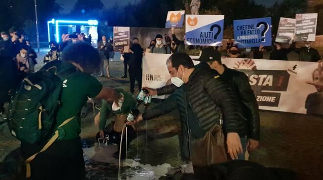 protesta baristi birra a terra