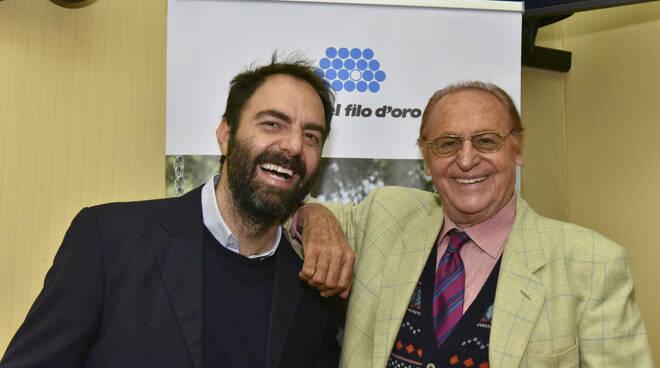Neri Marcore' e Renzo Arbore per la Lega del Filo d'Oro