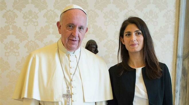 virginia raggi e papa francesco