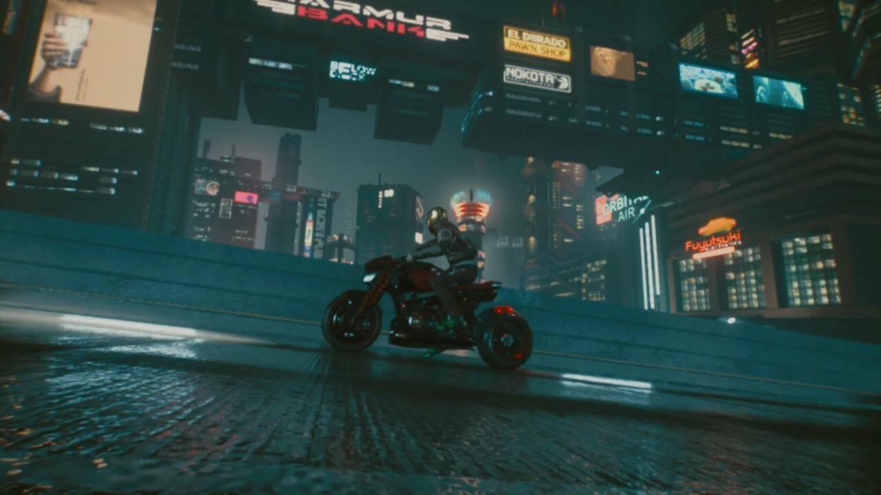Cyberpunk moto