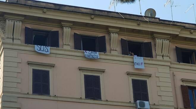 striscioni san lorenzo per sindaca