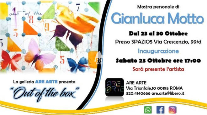 ""\""""Out of the box"""", una Mostra personale di Gianluca Motto""660|368|?|en|2|b9e049701d23bc318f9c873d4c7f991f|False|UNLIKELY|0.29830482602119446